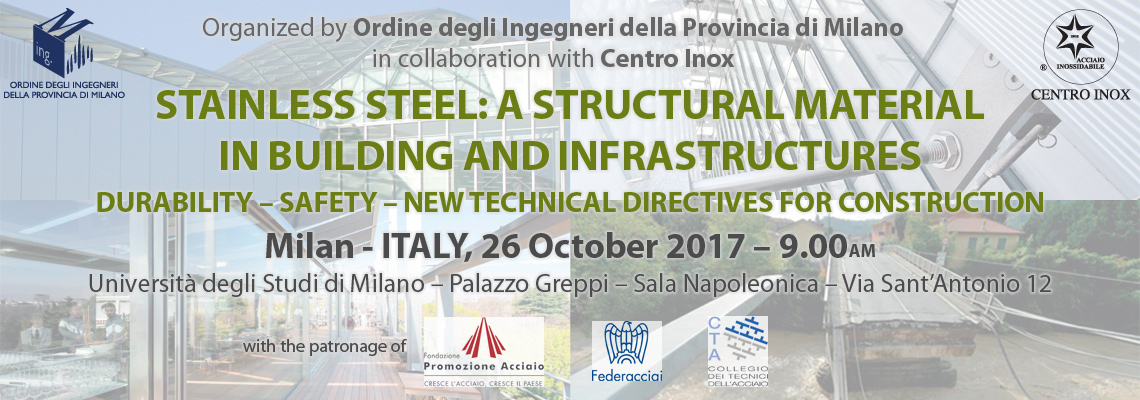 STAINLESS STEEL: A STRUCTURAL MATERIAL IN BUILDING AND INFRASTRUCTURES